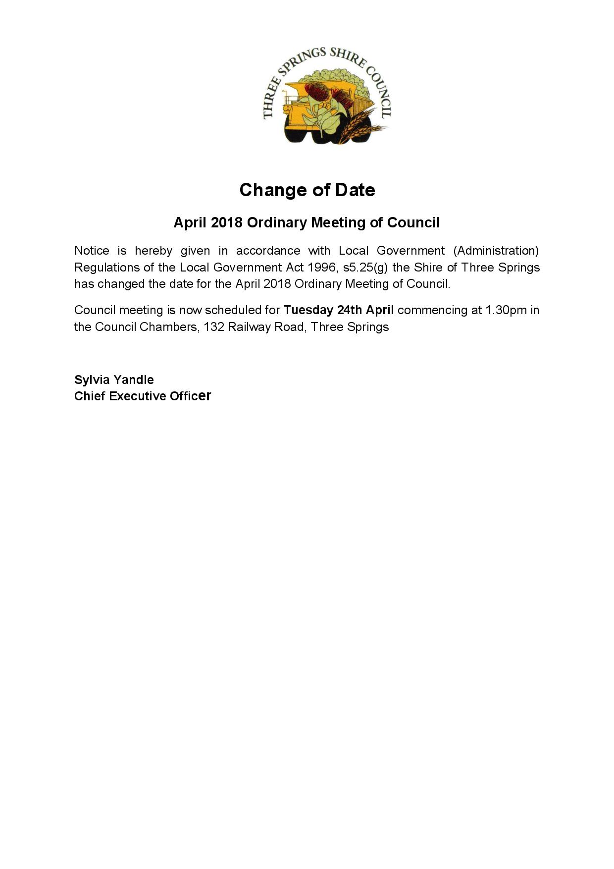 2018 April meeting date change page 001